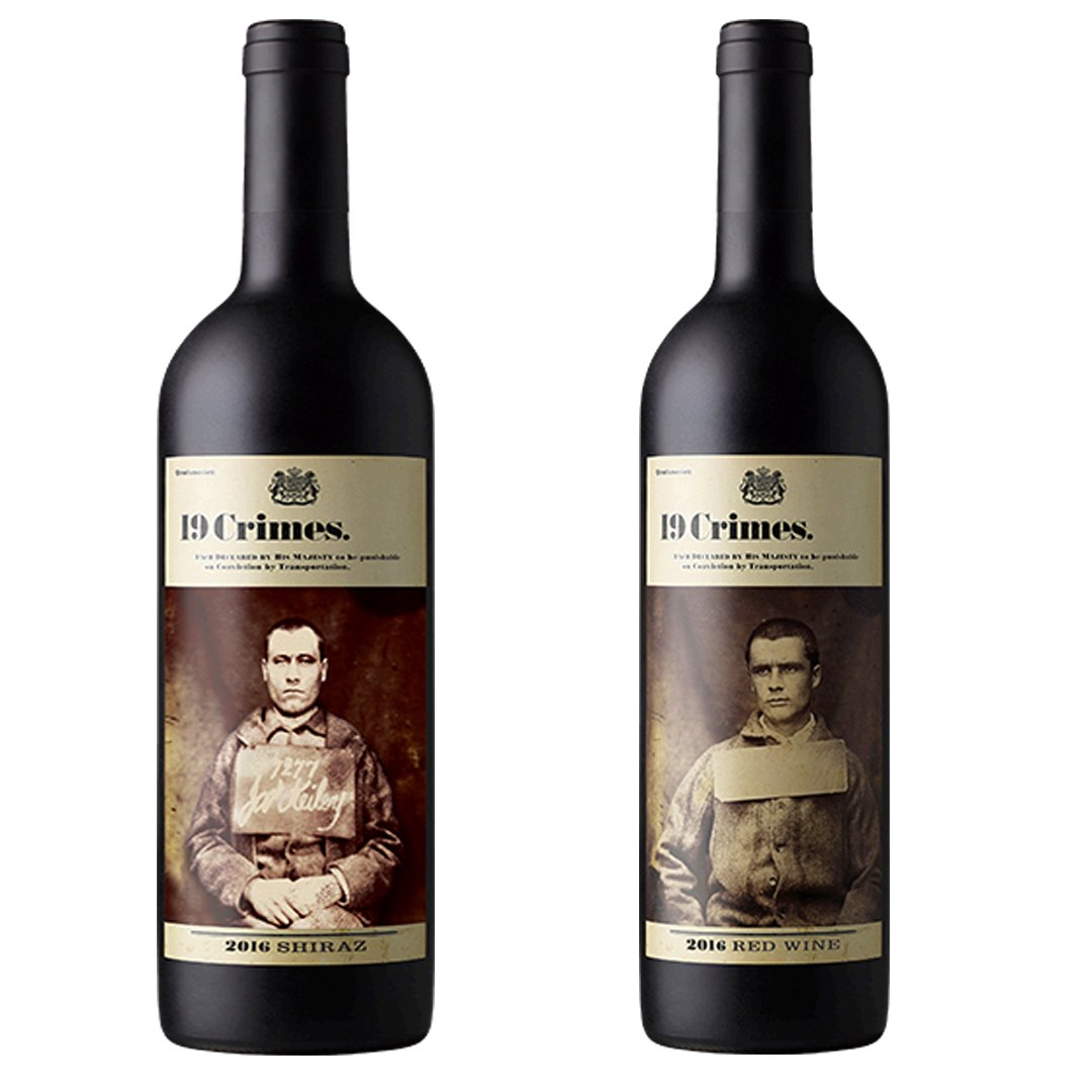 19 Crimes Shiraz and 19 Crimes Red Blend