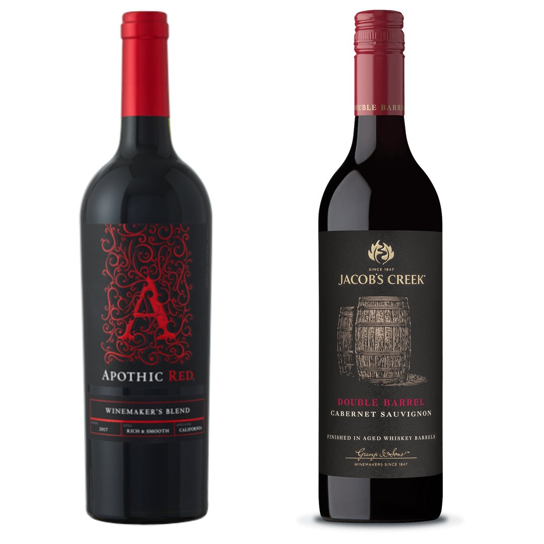 Apthic Red and Jacob's Creek Cabernet Sauvignon