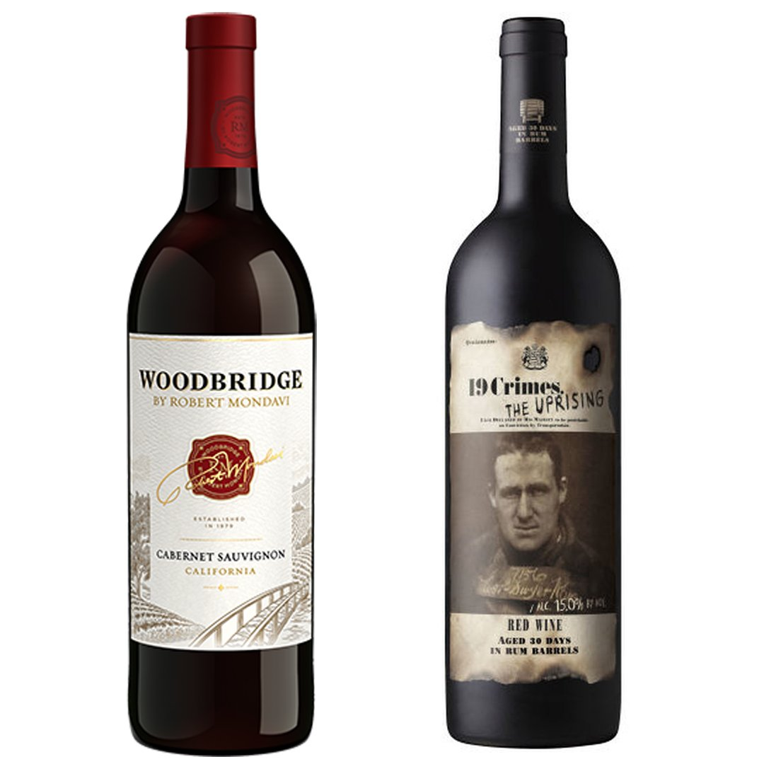 Woodbridge Wines - Cabernet Sauvignon and 19 Crimes - Uprising Red Blend